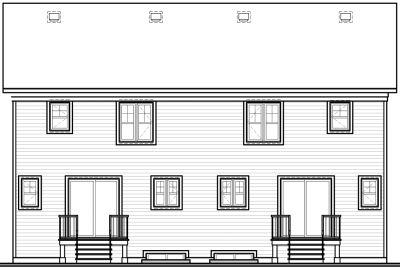 Rear Elevation Plan: 5-517