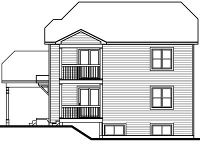 Rear Elevation Plan: 5-520
