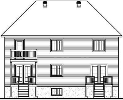 Rear Elevation Plan: 5-522