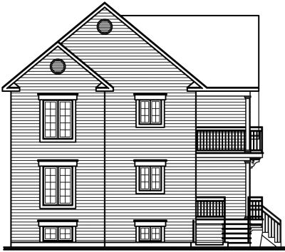 Rear Elevation Plan: 5-523