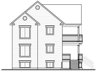 Rear Elevation Plan: 5-524