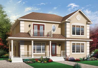 European Style House Plans Plan: 5-526