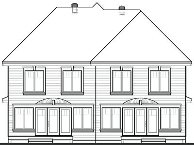 Rear Elevation Plan: 5-527