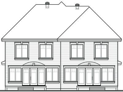 Rear Elevation Plan: 5-527