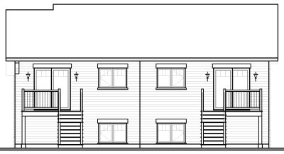 Rear Elevations Plan:5-529