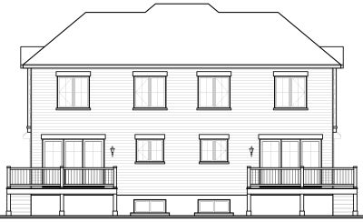 Rear Elevation Plan: 5-530