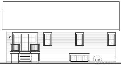 Rear Elevation Plan: 5-532
