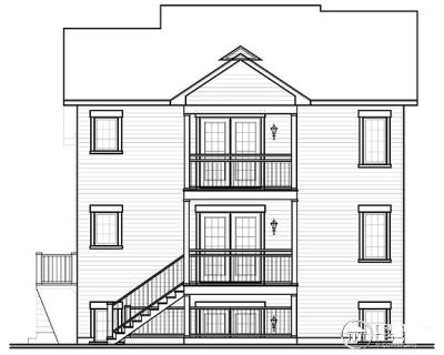 Rear Elevation Plan: 5-533