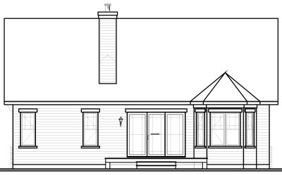 Rear Elevation Plan: 5-534