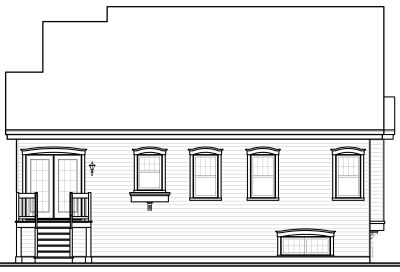 Rear Elevation Plan: 5-536