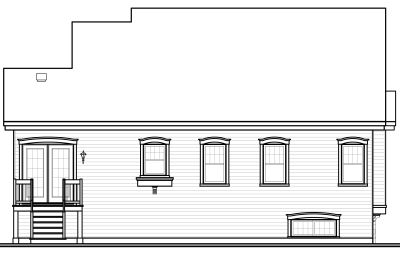 Rear Elevation Plan: 5-537