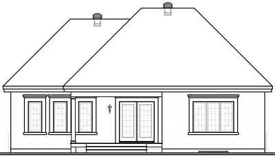 Rear Elevation Plan: 5-539