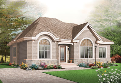 Traditional Style Home Design Plan: 5-540