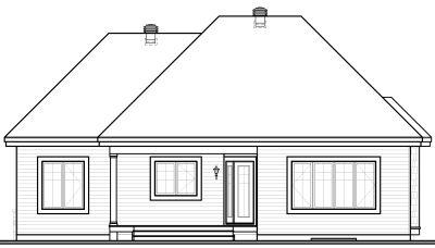 Rear Elevation Plan: 5-540