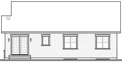 Rear Elevation Plan: 5-541