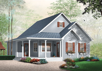 Country Style Floor Plans Plan: 5-542