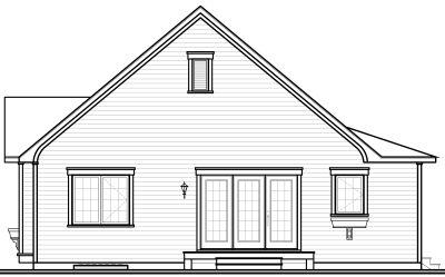 Rear Elevation Plan: 5-542