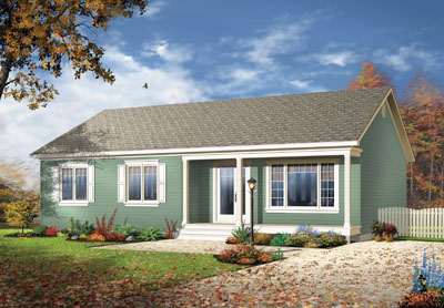 Traditional Style Home Design Plan: 5-543