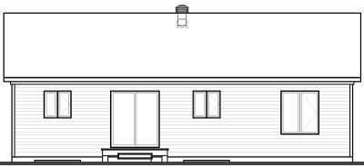 Rear Elevation Plan: 5-543