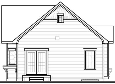 Rear Elevation Plan: 5-544