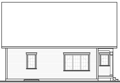 Rear Elevation Plan: 5-545