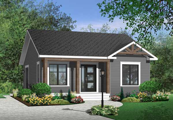 Traditional Style Home Design Plan: 5-547