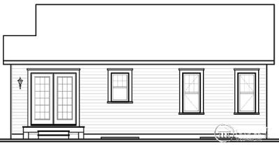Rear Elevation Plan: 5-548