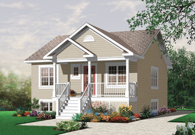 Traditional Style Home Design Plan: 5-549