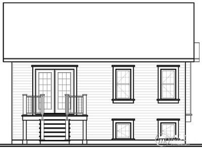 Rear Elevation Plan: 5-549