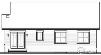 Rear Elevation Plan: 5-550