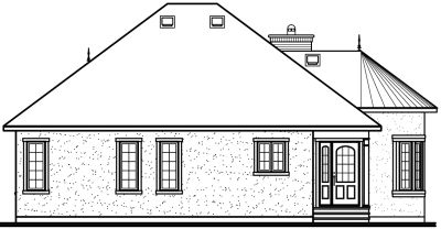 Rear Elevation Plan: 5-551