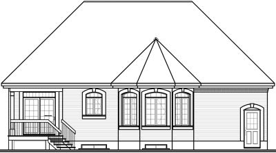 Rear Elevations Plan:5-552