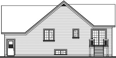 Rear Elevation Plan: 5-555