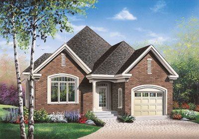 Traditional Style Home Design Plan: 5-556