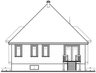 Rear Elevation Plan: 5-556