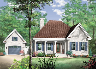 Country Style House Plans Plan: 5-557
