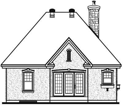 Rear Elevation Plan: 5-557