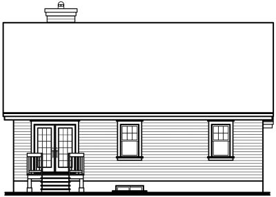 Rear Elevation Plan: 5-558