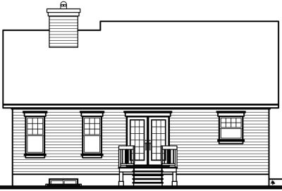 Rear Elevation Plan: 5-559