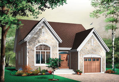 Traditional Style Home Design Plan: 5-561