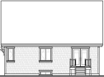 Rear Elevation Plan: 5-561