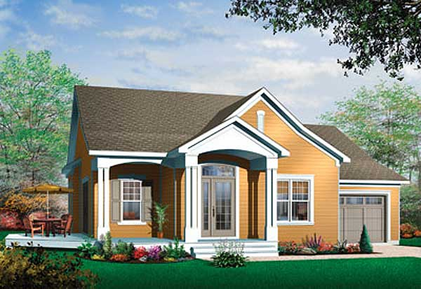 Country Style Home Design Plan: 5-563