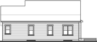 Rear Elevation Plan: 5-563