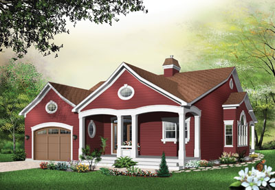 Country Style Floor Plans Plan: 5-564