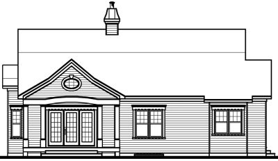 Rear Elevation Plan: 5-564