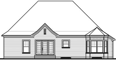 Rear Elevation Plan: 5-566