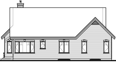 Rear Elevation Plan: 5-567