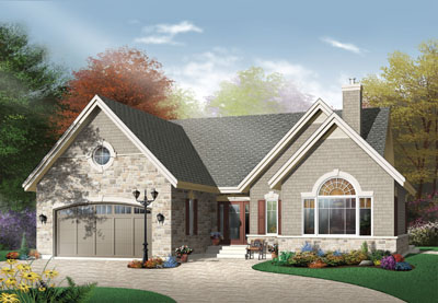 Traditional Style Home Design Plan: 5-568