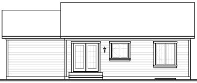 Rear Elevation Plan: 5-571