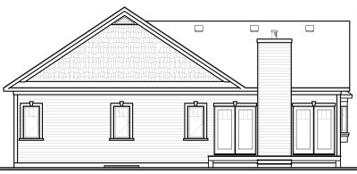 Rear Elevation Plan: 5-573